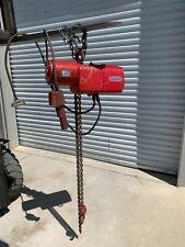 Dayton 1 Ton Electric Chain Hoist 9n100b 10 Ft Lift 3 Phase Power