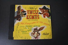 "Vintage 1947 ""Tales Of Uncle Remus For Children"" 78 Rpm 3 Record Set"