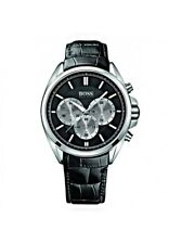 Hugo Boss  Men's Driver Black Leather Chronograph Watch - 1512879