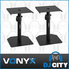 Studio Monitor Stands Speaker Mount Adjustable Desktop Stand Pair Vonyx SMS10