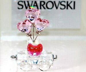 Swarovski Original Figurine Cord Wagon Herzballone 5428615 New