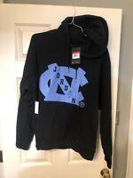 NEW Sz M Men's Air Jordan X UNC Loose Fit Hoodie Carolina Blue/Black BV3954-010