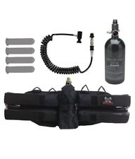 Maddog 4+1 Paintball Harness Pods 48/3000 Hpa Tank Remote Coil Slidecheck