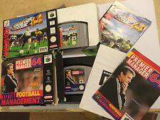 2 x NINTENDO 64 N64 FOOTBALL GAMES PREMIER MANAGER 64 + ISS Int SUPERSTAR SOCCER