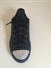 GIRLS KIDS JUNIOR LEATHER CONVERSE ALL STAR TRAINERS SIZE 2
