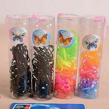 colorful Hair Rope For Women Black Elastic Rubber Band Ponytail Holder Hairband