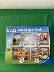Disney Pixar The Good Dinosaur 4 Jigsaws COMPLETE AND EXCELLENT CONDITION