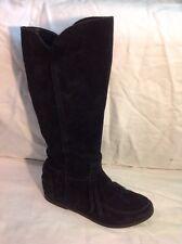 Bagatt Black Knee High Suede Boots Size 36