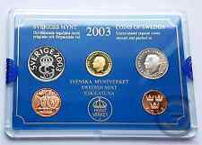 2003 SUECIA CORONAS COIN SET COINS MONEDAS PACK ESTUCHE SWEDEN CROWN EUROPA EURO