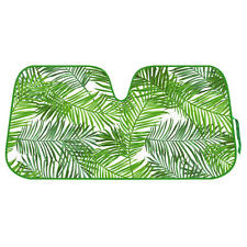 Tropical Fern Leaves Sunshade for Car SUV Jumbo Folding Windshield Auto Shade