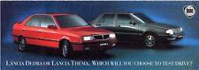 LANCIA DEDRA & THEMA Test Drive offrono 1993 UK mercato Mailer pieghevole brochure