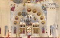 Tarpon Springs Florida~St Nicholas Greek orthodox Church~Interior~1954 Linen PC