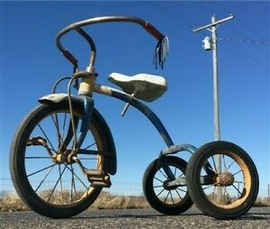 Mid Century Murray Happi-Time Tricycle, Bicycle, Pedal Trike, Rustic Decor, A4,