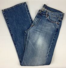 Seven 7 Womens Jeans Size 30 Flare Cut Dark Wash Denim Pants Boot Bottoms c16