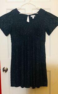 Motherhood Maternity Dress Navy Blue Size XL