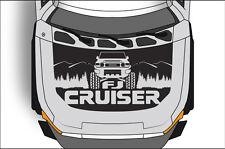 Vinyl Decal FJ Hood Graphic Wrap Kit for Toyota FJ Cruiser 2007-2014 Matte Black