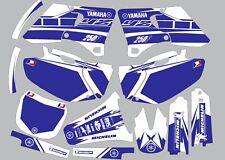 Vibrant Highlighter YAMAHA GRAPHICS  YZ 250f YZ250f 2000 2001 2002 Blue