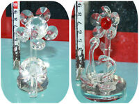 Decorative Swan Flower swarovski crystal Element Ornaments Display Gift Present