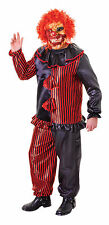 Zombie Clown Costume & Mask Fancy Dress Outfit Horror Halloween Size M-L
