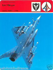 FICHE 1950-1990 les Mirages F1 III-E/5 /50/2000 Dassault Aviation AMD FRANCE 80s