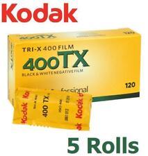 5 Rolls  KODAK Pro TRI-X 400 ISO 400TX B&W Black & White 120 Negative Film