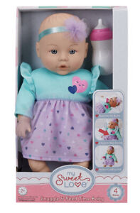 """🔥🔥My Sweet Love Feed and Cuddle 12.5"""" Baby Doll w/Sound Feature, Purple Outfit"""
