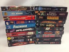 Lot Of 20 VHS Sci Fi / Action / Horror Movies Bruce Willis Eastwood Seagal Rock