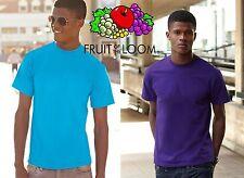 T-shirt FRUIT OF THE LOOM maglietta UOMO maglia COTONE manica corta COTTON#