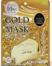 JAPAN GALS Pure 5 Gold Essence Mask 10pcs anti aging