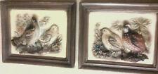 Pair Napcoware Bird Plaques Bob White Ruffled Grouse 3D