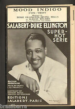 1 PARTITION LIVRET MOOD INDIGO Fox-Trot DUKE ELLINGTON IRVING MILLS 1933