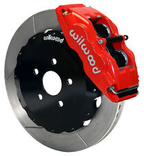 WILWOOD DISC BRAKE KIT,FRONT,00-05 ECHO,04-06 SCION xA,xB,13 ROTORS,RED CALIPERS