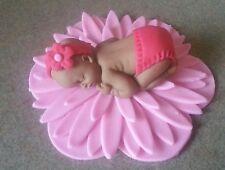 Baby shower cake topper fondant baby fully customizable