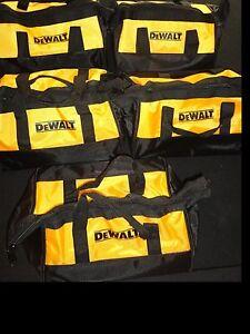(5) DEWALT 20V 20 VOLT STORAGE BAGS DESIGNED FOR 12V MAX & 20V TOOLS