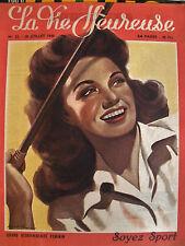 revue magazine LA VIE HEUREUSE n°32 - 29 juillet 1946 - mode vintage