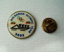 pin badge Olympic games Salt Lake 2002 USA Bulgarian team bobsleigh