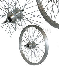 """20 """"arrière vélo bmx freestyle roue argenté jante 10mm essieu neuf"""