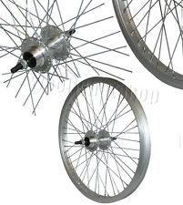 "20 ""Posteriore Bmx Bicicletta Freestyle Ruota Argento Cerchio 10mm Asse Nuovo"