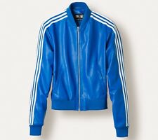 Adidas Originals x Pharrell Williams Leather Track Icon Blue Jacket Size L Ltd