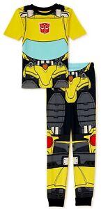 NWT Transformers Bumblebee Pajamas Pants Shirt Lounge Sleep Boy Girl 5 6 7 8 10