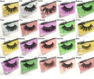 3D Mink Eye Lashes False Eyelashes Faux Cruelty Free Brush & Applicator Included
