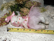"Vintage 8"" Antique White Bisque Chubby Baby Doll Jointed Painted Facial Features"