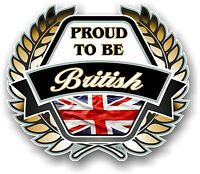Proud to be British D'oro stemma & Union Jack bandiera auto casco adesivo