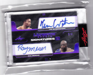 Tim Witherspoon Ray Mercer 2021 Leaf Ultimate Sports Signatures #6/9