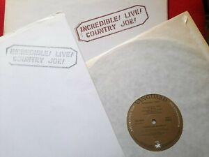 Country Joe McDonald – Incredible ! Live ! 1972 +Promo Press Pack.UK Strong EX
