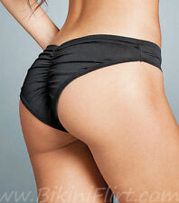 SEXY SCRUNCHY BACK BLACK LOW RISE BRAZIL BIKINI BOTTOMS! BRAND NEW! LOOK!!