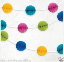 7ft Multi Colour Honeycomb Ball Garland Banner Decoration