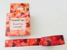 VALENTINE'S DAY WASHI TAPE: RED VALENTINE HEARTS BOXED WASHI TAPE- NEW