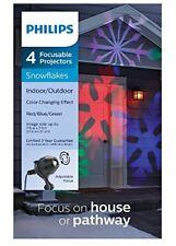 4 Focusable Christmas Snowflake Projectors * Philips R/G/B Indoor/Outdoor * NEW