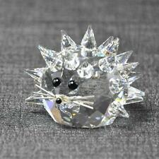 Swarovski Hedgehog Medium Var 2 Silver Whiskers Crystal Figurine Box MIB Rare